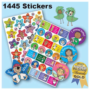 Value Pack of 1404 Mixed EYFS Pedagogs Stickers