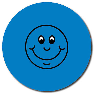 Personalised Smile Stickers - Blue (35 per sheet - 37mm)