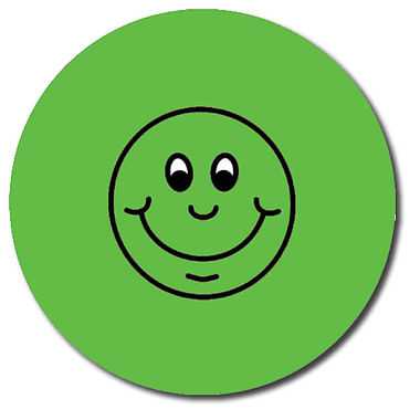 Personalised Smile Stickers - Green (35 per sheet - 37mm)