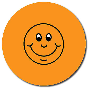 Personalised Smile Stickers - Orange (35 per sheet - 37mm)