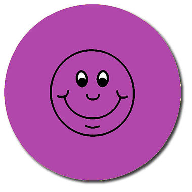 Personalised Smile Stickers - Purple (35 per sheet - 37mm)