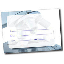 Personalised A5 Microscope Blank Certificates