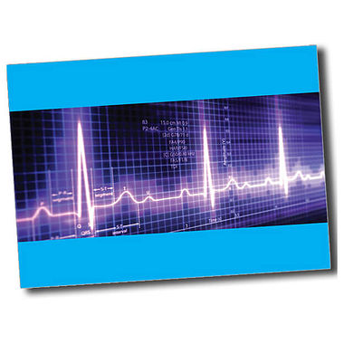 Personalised Heartbeat Postcard - Cyan (A6)