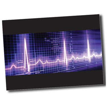 Personalised Heartbeat Postcard - Black (A6)
