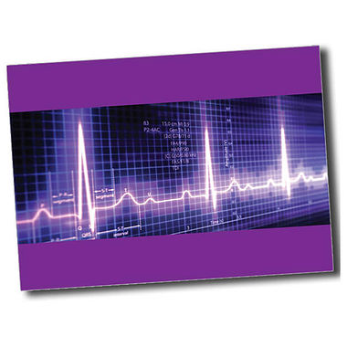 Personalised Heartbeat Postcard - Purple (A6)