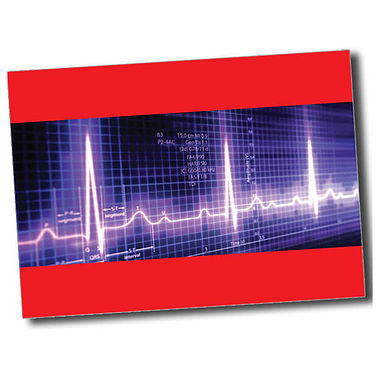 Personalised Heartbeat Postcard - Red (A6)