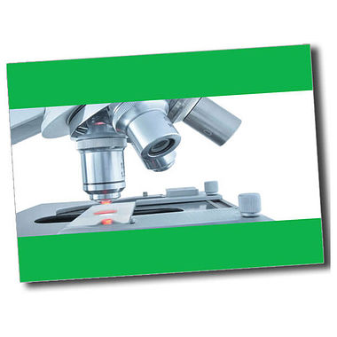 Personalised Microscope Postcard - Green (A6)