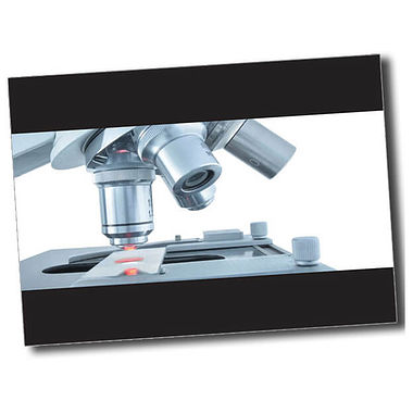 Personalised Microscope Postcard - Black (A6)