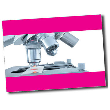 Personalised Microscope Postcard - Pink (A6)