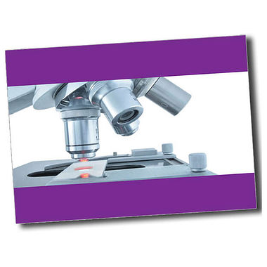 Personalised Microscope Postcard - Purple (A6)