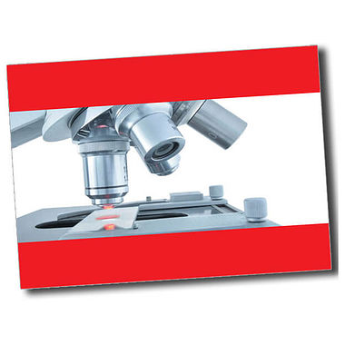 Personalised Microscope Postcard - Red (A6)