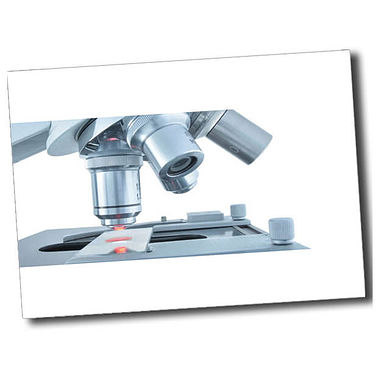 Personalised Microscope Postcard - White (A6)