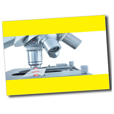 Personalised Microscope Postcard - Yellow (A6)