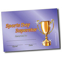 Personalised A5 Trophy Certificates