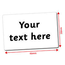 Personalised Text Only 46mm x 30mm Stickers x 32