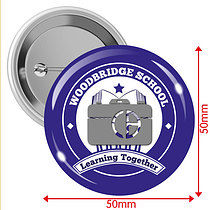 Personalised Upload Your Own 50mm Badges - Pack of 10