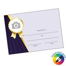 A5 Side Circle Image Upload Your Own Certificate