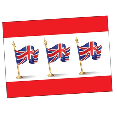 Personalised Union Flag Postcard - Red (A6)