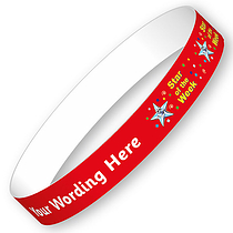 Sheet of 5 Personalised Star of the Week Adhesive Wristbands