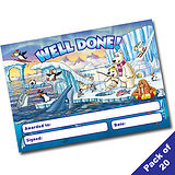 Pack of 20 Well Done Polar Scene A5 Certificates