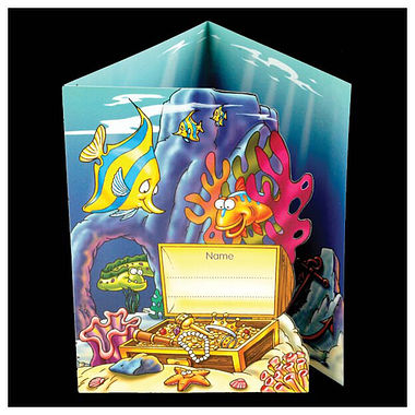 Pack of 10 Fold-out Underwater Scene Sticker Saver Cards
