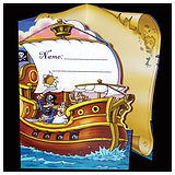 Pack of 10 Fold-out Pirate Scene Sticker Saver Cards