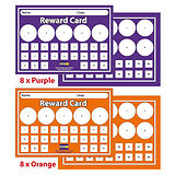 Pack of 16 A5 House Colour Sticker Saver Reward Cards