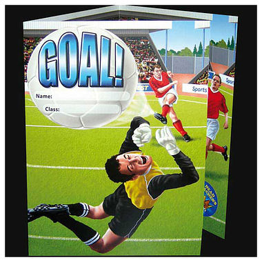 Pack of 10 Fold-out Football Scene Sticker Saver Cards