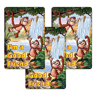 Sheet of 32 I'm a Good Friend 46mm x 30mm Stickers