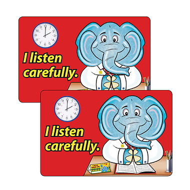 Sheet of 32 I Listen Carefully 46mm x 30mm Stickers