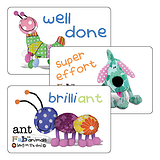 Sheet of 32 Mixed Fabric Animals 46mm x 30mm Stickers