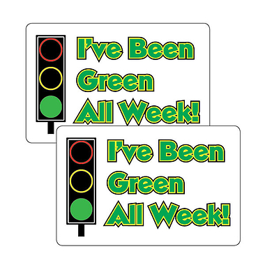 Sheet of 32 I've Been Green All Week 46mm x 30mm Stickers