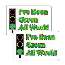 I've Been Green All Week 46mm x 30mm Stickers x 32