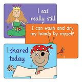 Sheet of 32 Pedagogs Life Skills 46mm x 30mm Stickers