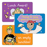Sheet of 32 Pedagogs Lunchtime 46mm x 30mm Stickers