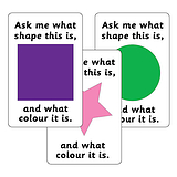 Ask Me What Colour & Shape Sorting Stickers (32 per sheet - 46mm x 30mm)