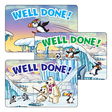 Well Done Stickers - Polar Scene (32 per sheet - 46mm x 30mm)