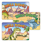 Dinosaur Mixed Well Done Stickers Sheet of 32 46mm x 30mm