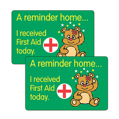 Sheet of 32 I Received First Aid Today 46mm x 30mm Stickers