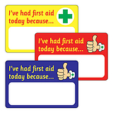 32 Writeable I Had First Aid Today 46mm x 30mm Stickers
