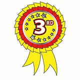 25 Rosette Shaped Third Metallic 54mm x 37mm Stickers