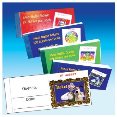 Book of 100 Easy-Tear Wallace & Gromit Raffle Tickets