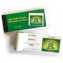 Book of 100 Easy-Tear Good to be Green Raffle Tickets