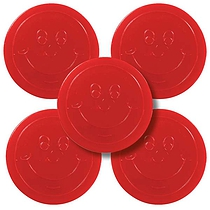 Red 38mm Plastic Reward Token pack of 50
