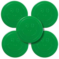 Green 38mm Plastic Reward Token pack of 50