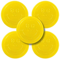 Yellow 38mm Plastic Reward Token pack of 50