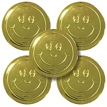 Gold 38mm Plastic Reward Token pack of 50