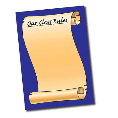 A2 Our Class Rules Paper Poster