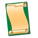 Good to be Green Rules Paper Poster (A2 - 620mm x 420mm)