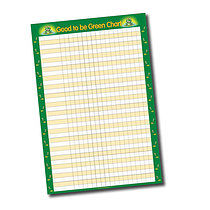 Good to be Green Sticker Collector Chart (A2)